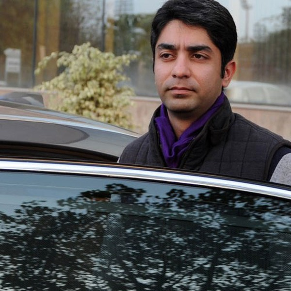Abhinav Bindra with his BMW 5-Series