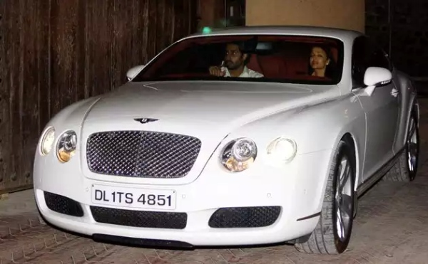 Abhishek Bachchan in a Bentley Continental GT