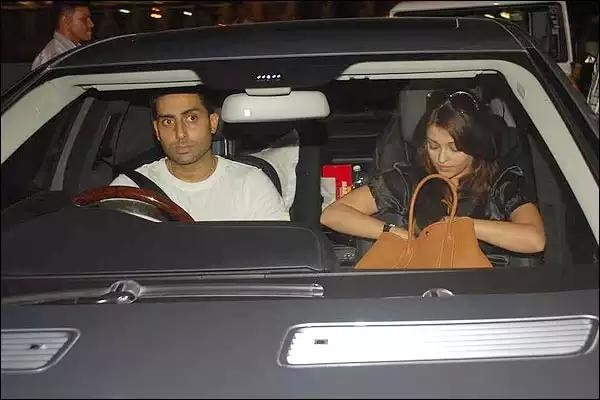 Abhishek Bachchan in a Mercedes Benz S-Class