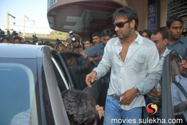 Ajay Devgan with his Mercedes Benz S-Class