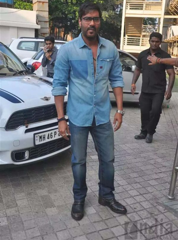 Ajay Devgn with his Mini Cooper