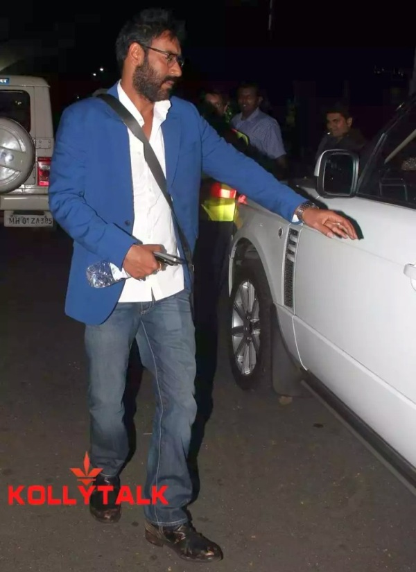 Ajay Devgn with his Range Rover Vogue