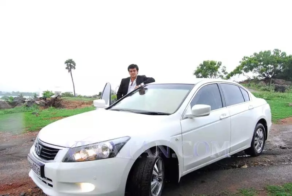 Ajith Kumar with his Honda Accord