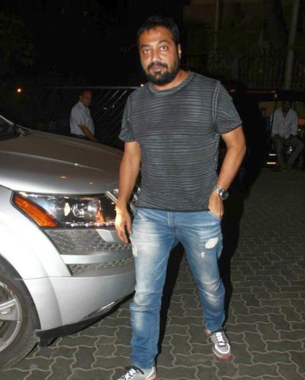 Anurag Kashyap with his Mahindra XUV500