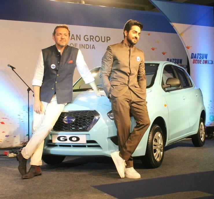 Ayushmann Khurana with the Datsun Go