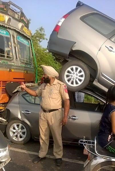 Crazy Car Accident In Punjab - What Actually Happened Here