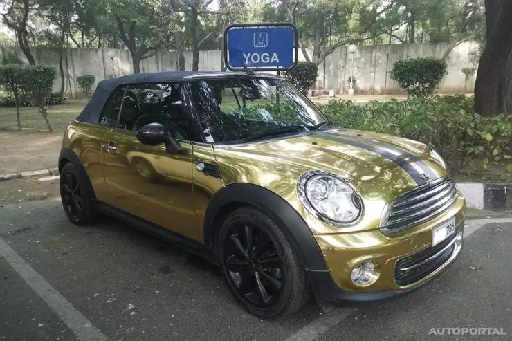 DC Design's Gold Wrapped Mini Cooper S Convertible 1