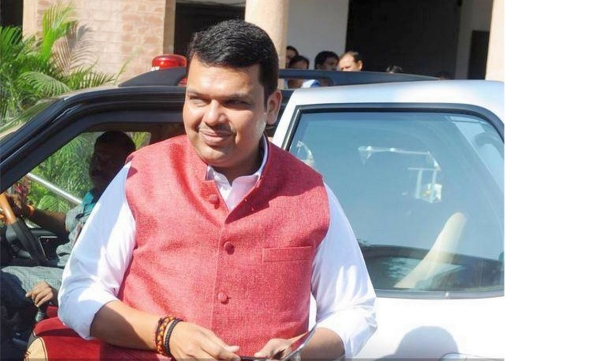 Devendra Fadnavis with his Tata Safari