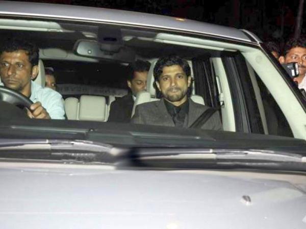 Farhan Akthar in his Range Rover
