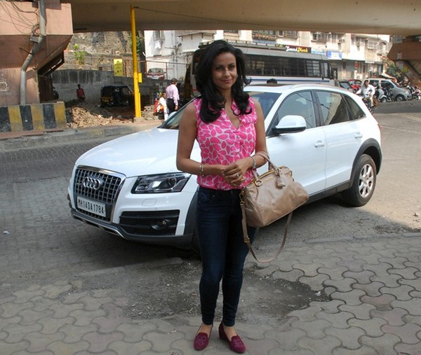 Gul Panag with her Audi Q5