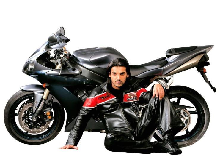 John Abraham with the Yamaha R1