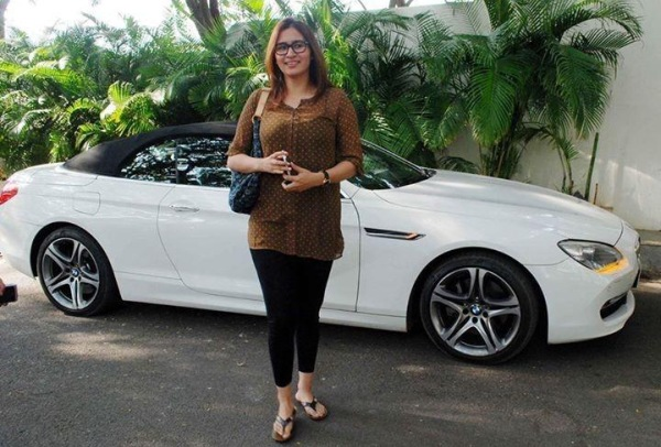 Jwala Gutta with her BMW 6-Series