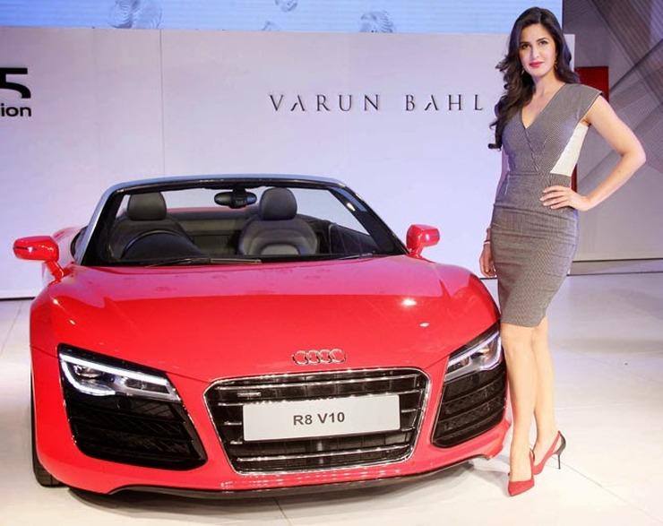 Katrina Kaif with the Audi R8