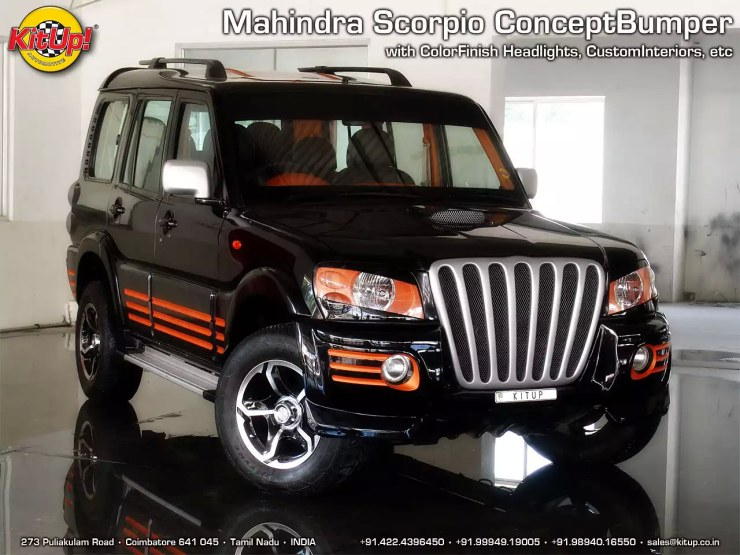 Modified Mahindra Scorpio Kit Up body kit