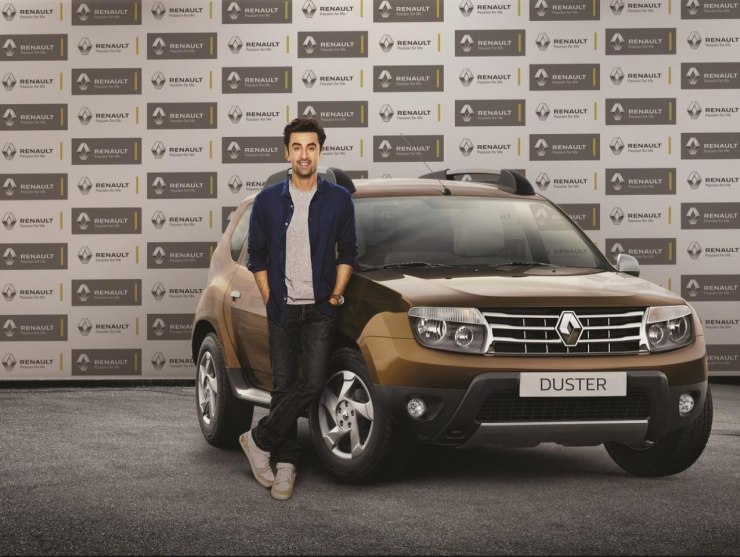 Ranbir Kapoor with the Renault Duster