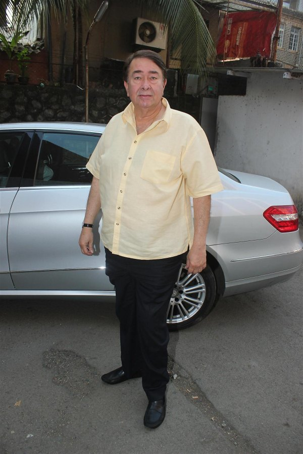 Randhir Kapoor with his Mercedes Benz E-Class