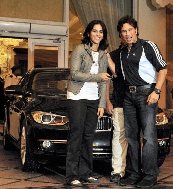 Cricketer Sachin Tendulkar gifted BMW to Saina Nehwal