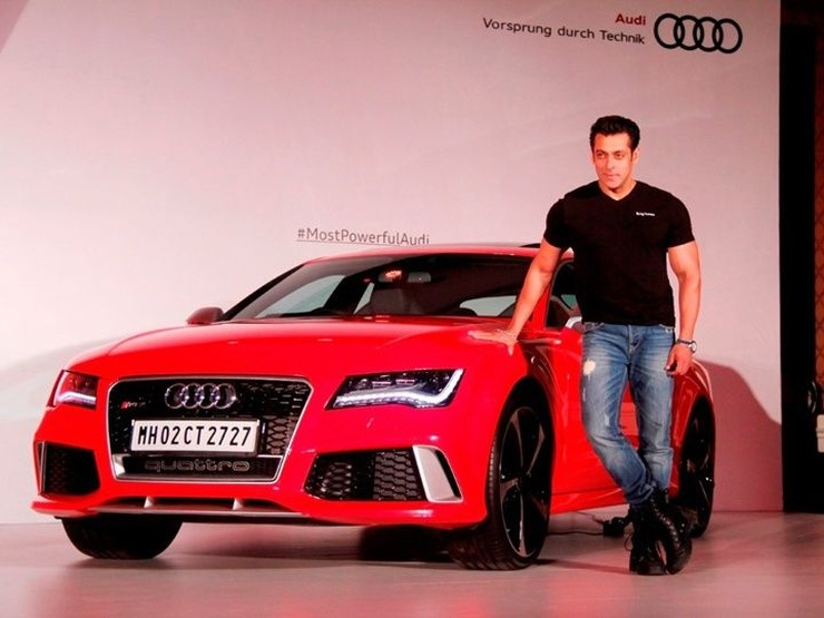 Salman Khan with the Audi RS7