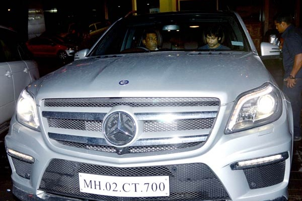 Shahid Kapoor with his Mercedes Benz GL350 CDI
