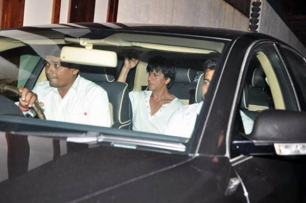 Shahrukh Khan with his BMW 7-Series 760 Li