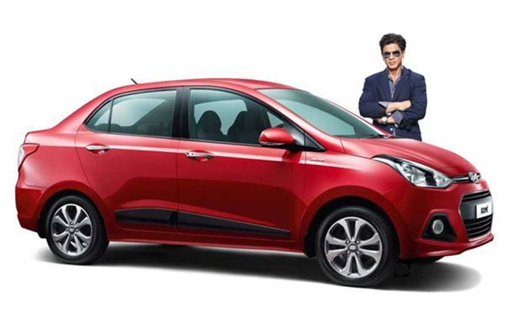 Shahrukh Khan with the Hyundai Xcent