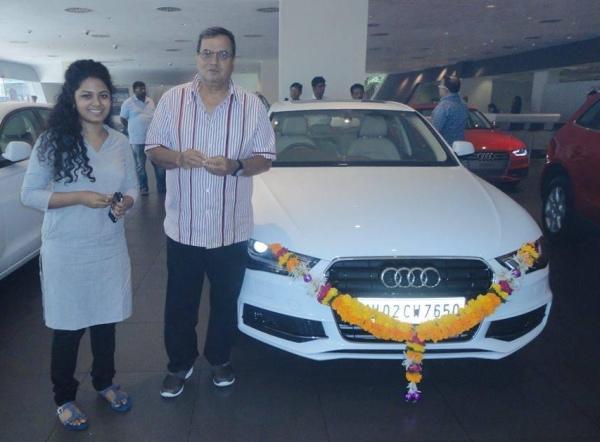 Subhash Ghai with his Audi A4 Sedan