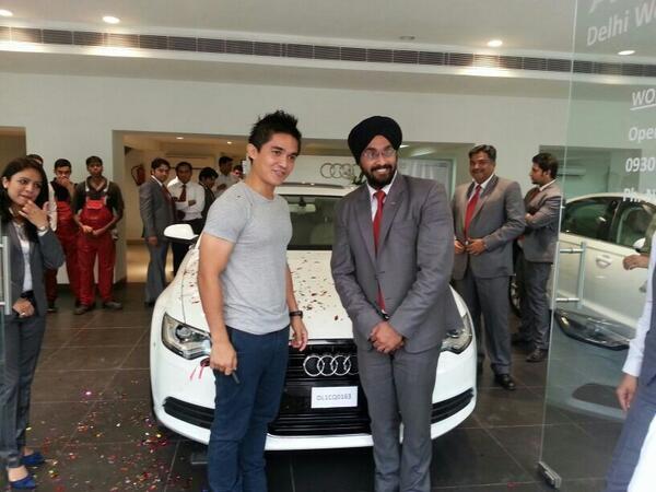 Sunil Chhetri's Audi A6