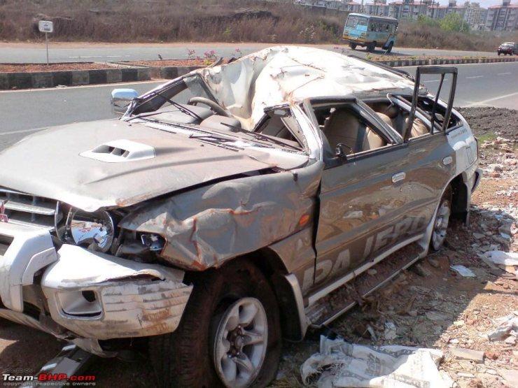 Tyre burst accident