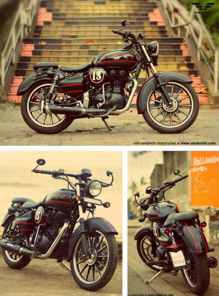 Vardenchi Type I Custom on a Royal Enfield Thunderbird 1