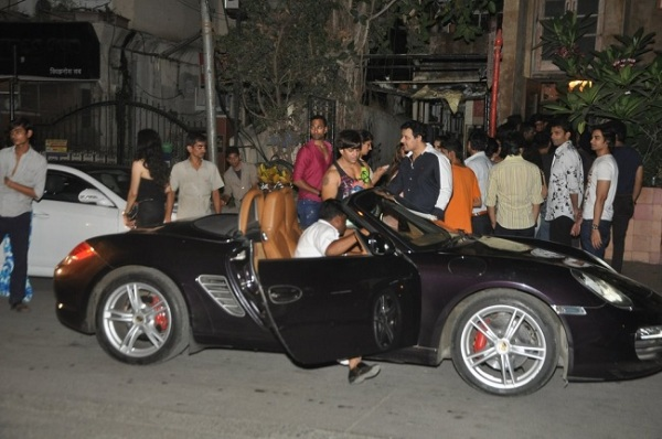 Yash Birla with his Porsche Boxster