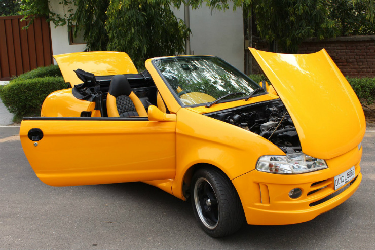 js design 39 s custom maruti 800 convertible updated features a wide body kit. Black Bedroom Furniture Sets. Home Design Ideas