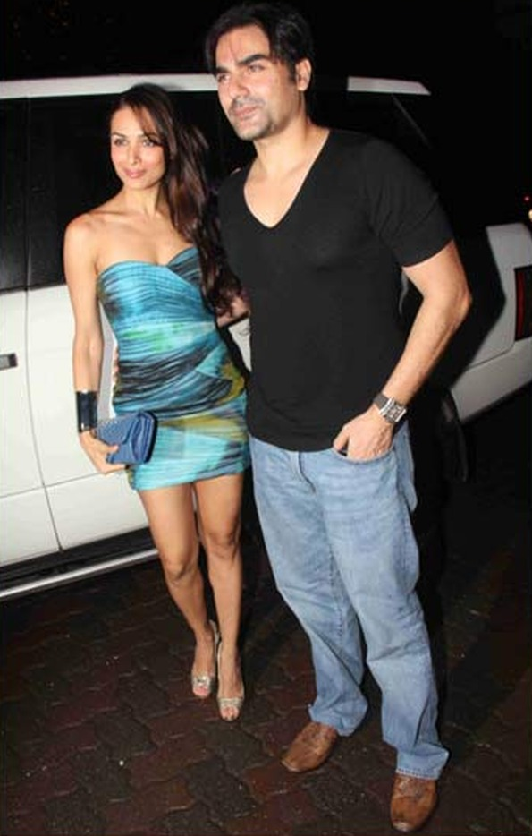 Arbaaz Khan & Malaika Arora with their Range Rover Vogue SE