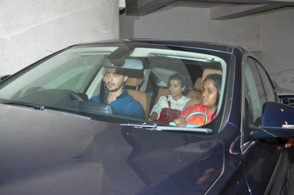 Arpita Khan and Aayush Sharma in a BMW 5-Series Sedan