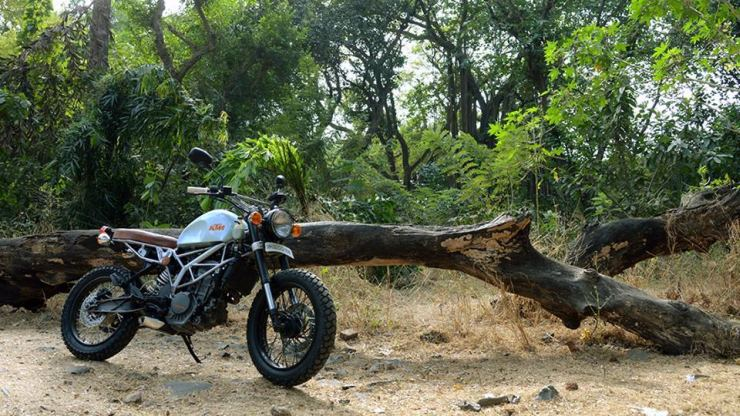 Cafe Nomads' KTM Duke 200 based Scrambler 1