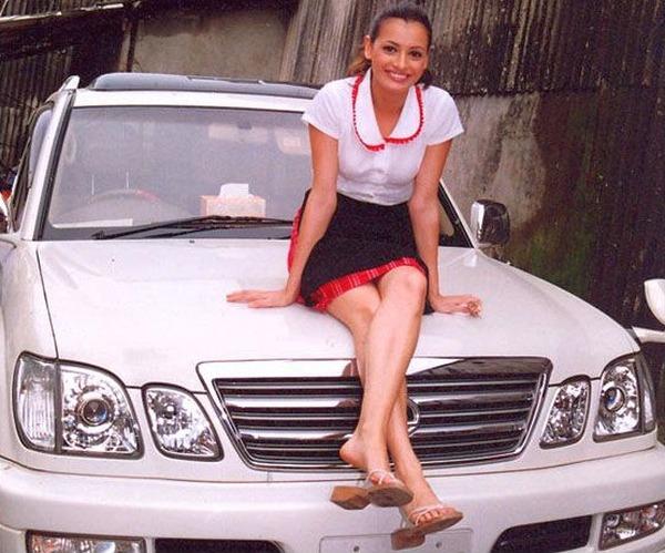 Diya Mirza with her Lexus LX 470