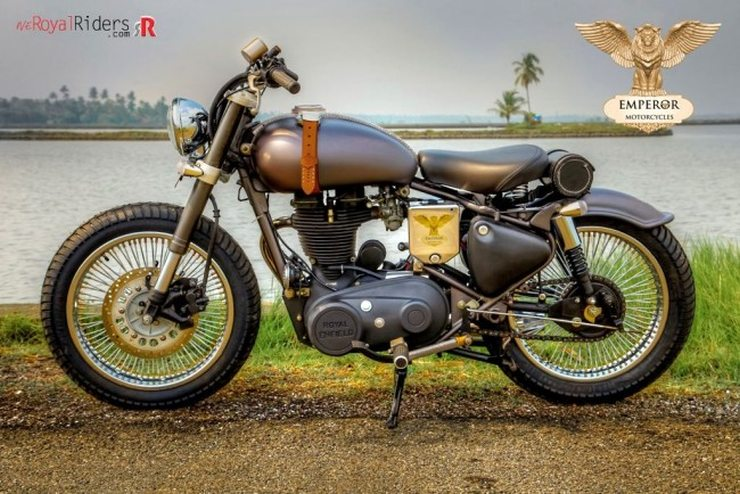 Emperor Motorcycles' Royal Enfield Electra 4S based Retro-naut Custom 1