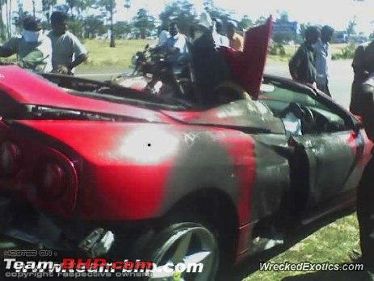 Ferrari 360 Modena India crash