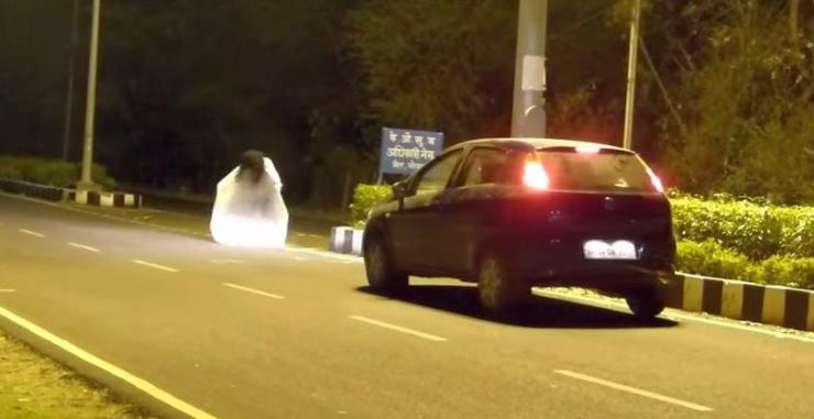 Fiat Punto Ghost Prank