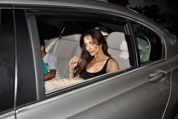 Malaika Arora Khan in a BMW 7-Series saloon