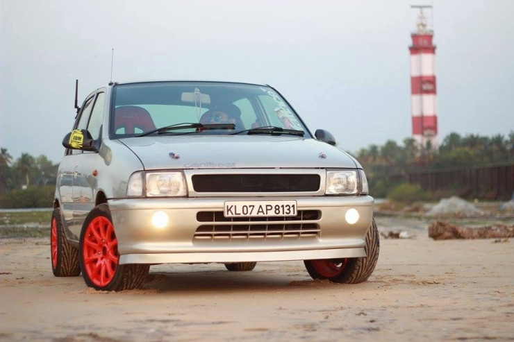 Maruti Suzuki Zen with Orange Alloy Wheels