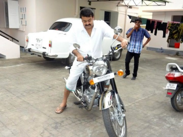 Mohan Lal with his Royal Enfield