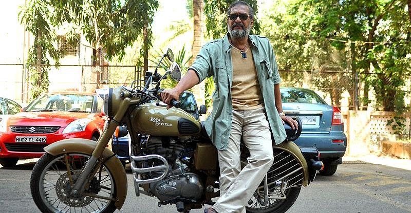 Nana Patekar with his Royal Enfield Desert Storm 500 Featured