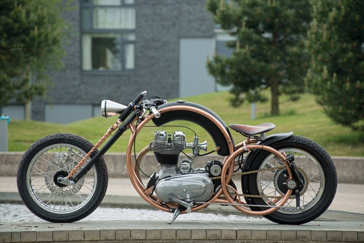 Piet Smit's Royal Enfield Olympic Custom 2