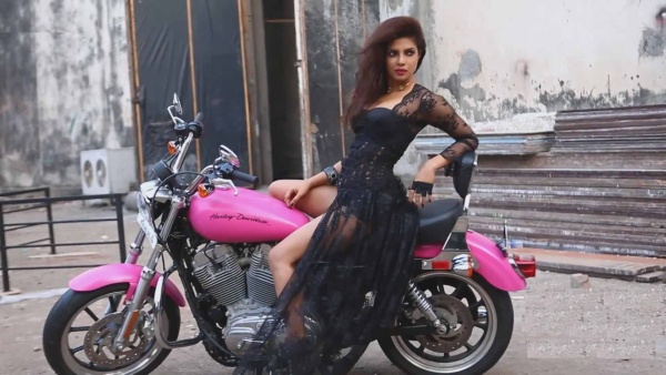 Priyanka Chopra's Harley Davidson in Hot Pink