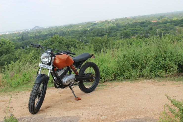 RTM Design's Yamaha RX100 Dirt Tracker 4