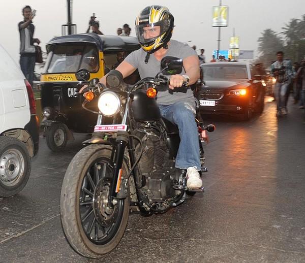 Saif Ali Khan on his Harley Davidson Iron 883