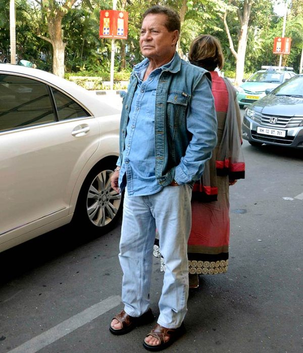 Salim Khan with his W221 Mercedes Benz S-Class