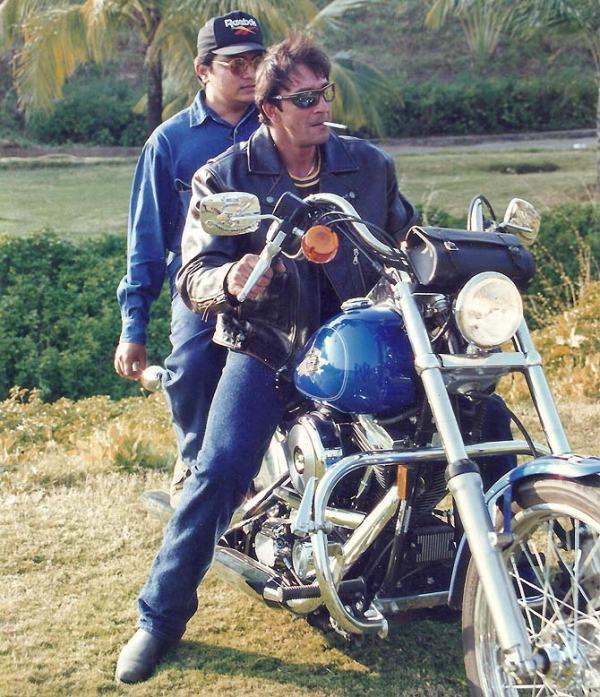Sanjay Dutt with his Harley Davidson Street Bob