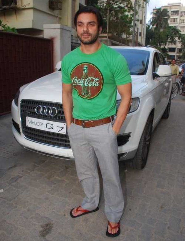 Sohail Khan with his Audi Q7