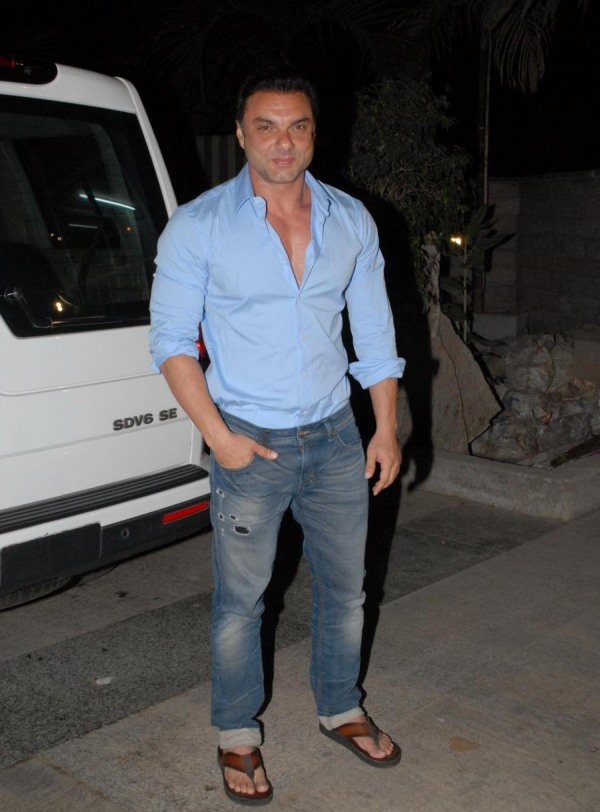 Actor Sohail Khan during the actor Kangana Ranaut birthday celebration party, in Mumbai, on March 23, 2014. (Photo: IANS)